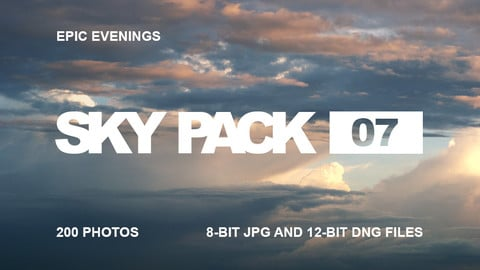 Sky Pack 07 / Epic evenings / Clouds reference pack