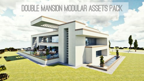 Modular Double Mansion Assets Pack