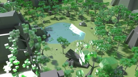 Boxy Forest Maya scenes
