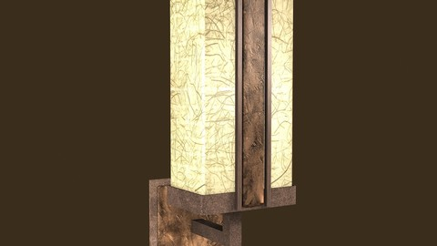 Rustic sconce Low-poly 3D model