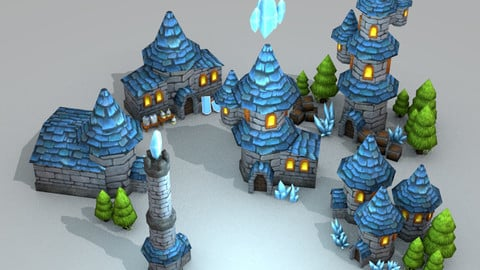 Wizard Tower Models [Low Poly]