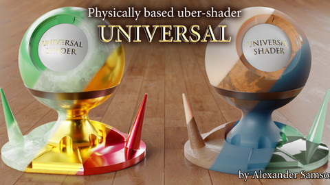 UNIVERSAL - PBR uber-shader (Blender)