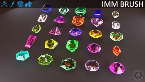 GEMSTONES IMM BRUSH