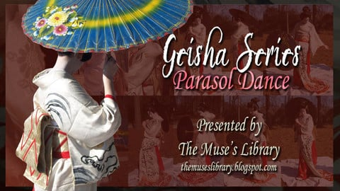 Stock Reference Photos - Geisha Series Pack 2 of 8 - Parasol Dance