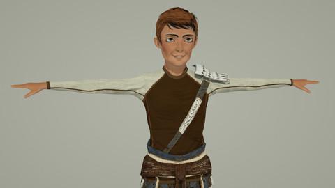 Medieval Boy 02 RIgged