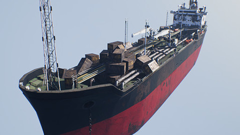 UNREAL ENGINE 4: Post-apocalyptic oil tanker