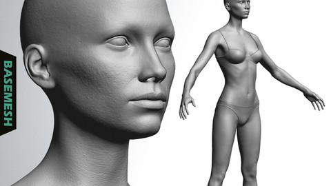 Skinny Female Basemesh