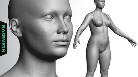 Overweight Female Basemesh