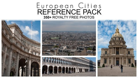 Reference Pack - European Cities - 372 Royalty Free Photos