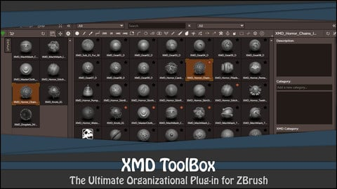 XMD ToolBox v1 - ZBrush Organization Plugin!