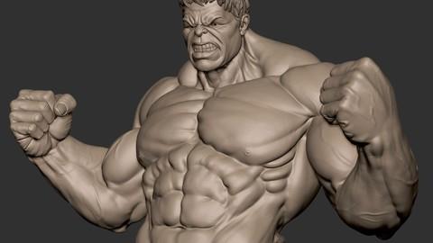 Hulk 3d Sculpt for printing