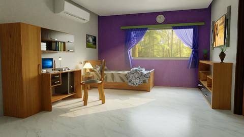 Furnished Room Interior Model