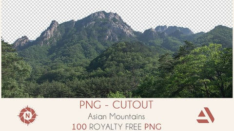 PNG Photo Pack: Asian Mountains