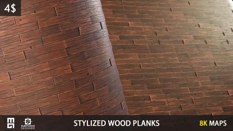 STYLIZED WOOD PLANKS MATERIAL - substance designer