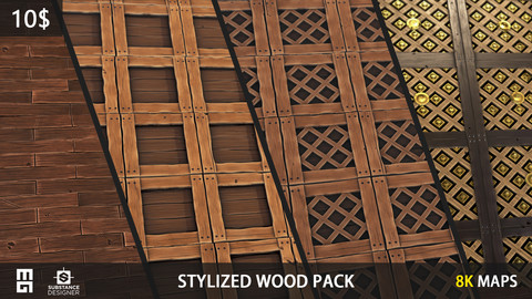 STYLIZED WOOD PACK - substance designer