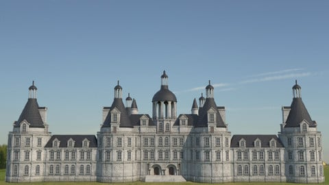 Low Poly Chateau-Castle - Inspired by Chateau de Chambord - PBR