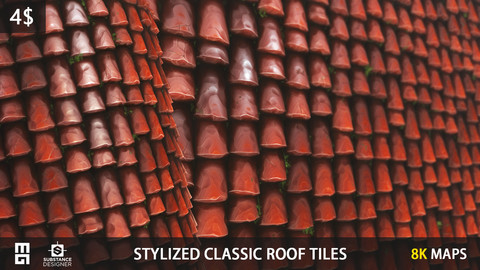 STYLIZED CLASSIC ROOF TILES MATERIAL- substance designer