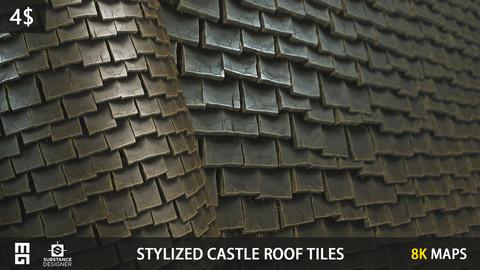 STYLIZED CASTLE ROOF TILES MATERIAL- substance designer