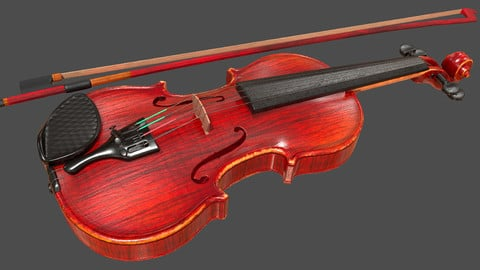 Viola and Bow - PBR