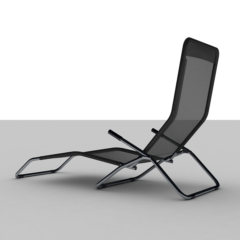 Incredible Black Reclining Sun Lounger Folding Chair Low Poly 3D Model Caraccident5 Cool Chair Designs And Ideas Caraccident5Info