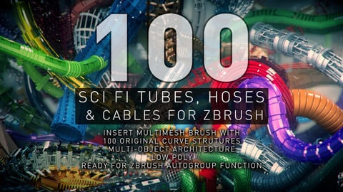 Sci-Fi Tubes, Hoses and Cables - 100 Pieces
