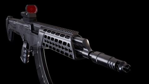 AK ALFA with red dot sight