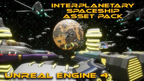 Interplanetary Spaceship Asset Pack (UE4)