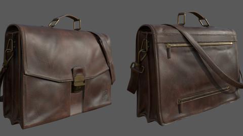 Vintage Satchel Bag - Textured 3D Low Poly Model