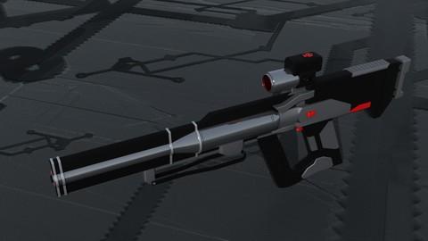 Gauss-Rail Hybrid Assault Rifle
