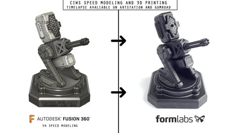 CIWS Speed Modeling in Fusion 360 and 3D Printing
