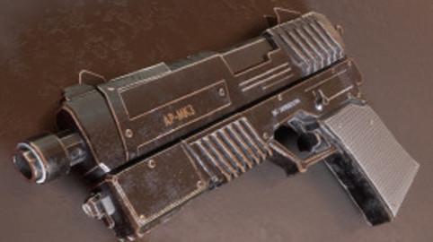 Sci-fi  Futurictic Assault Pistol