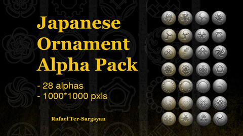 Japanese Ornament Alpha Pack