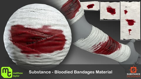 Substance - Bloodied Bandages Material