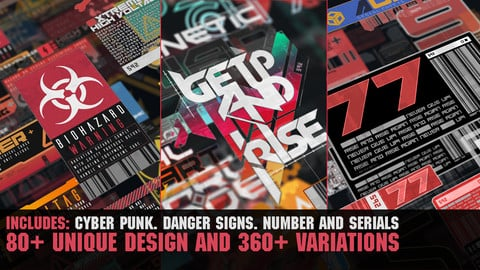 360+ CyberPunk decals Bundle