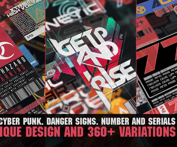 ArtStation - 360+ CyberPunk decals Bundle | Resources