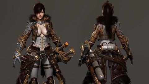 3D Attack on Titan_Katarina