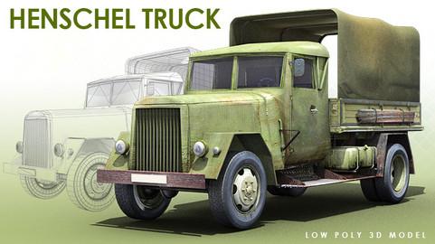 WWII GERMAN HENSCHEL TRUCK