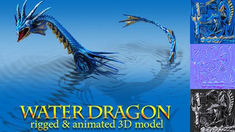 Toon Water Dragon