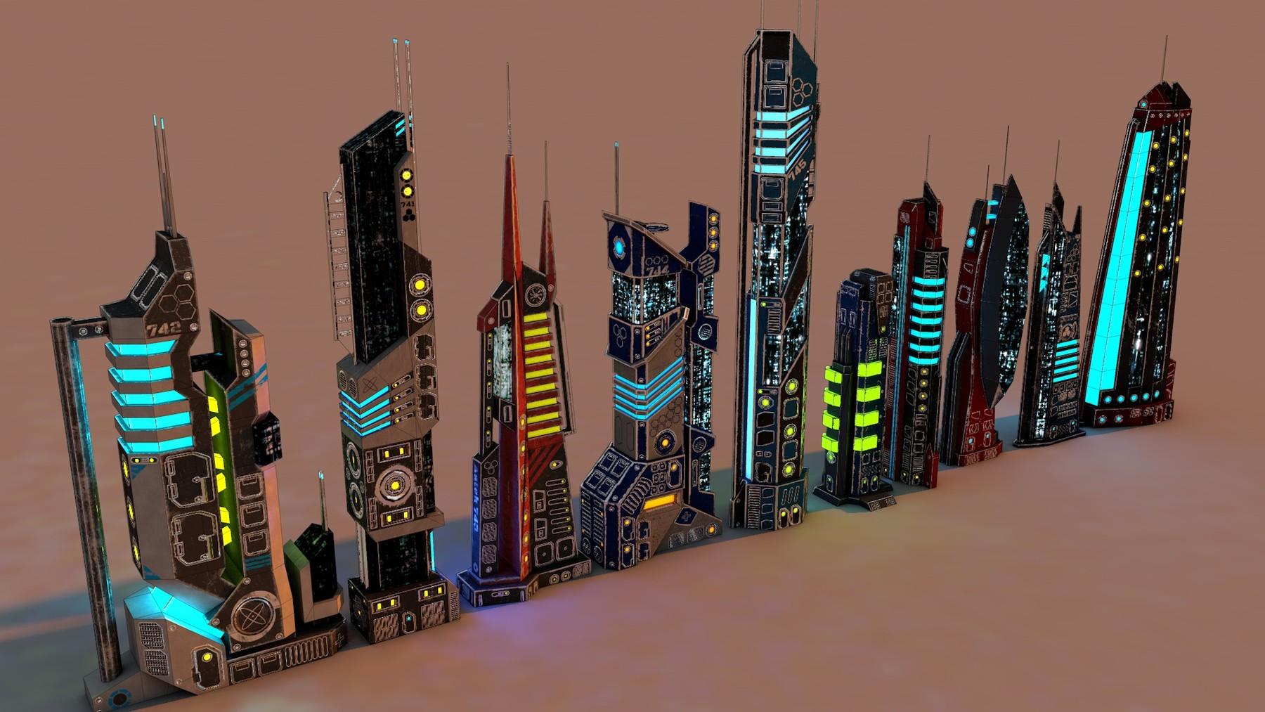 Havolk CG - SCI FI FUTURISTIC CITY Package