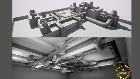 Air ducts modular system 60 elements interior/exterior