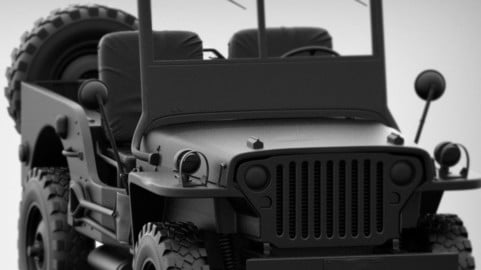 JEEP WILLYS - HighPoly model