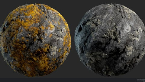 Substance Stone Yellow Lichen