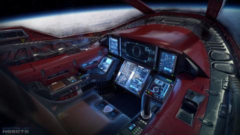 Sci Fi Cockpit Light Fighter Low-poly 3D model