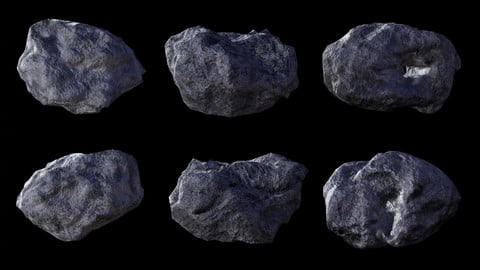 Asteroid Pack - Low-poly 3D model
