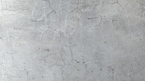 The plastered wall with cracks