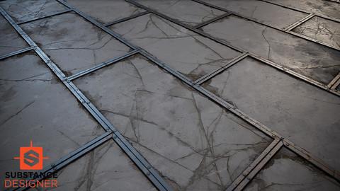 Substance - Concrete Panel floor with Metal Trims