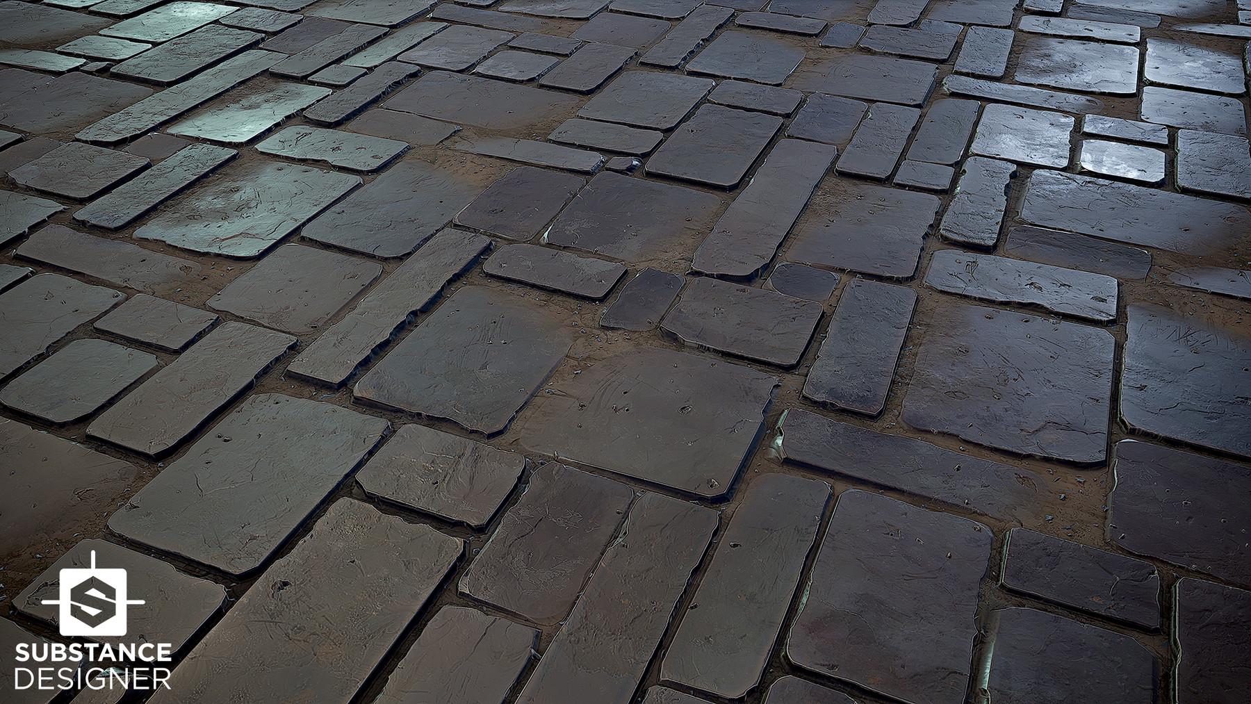 Substance Stone Slate Tile Floor