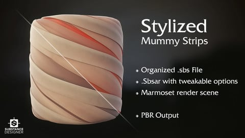 Substance - Stylized Mummy Strips