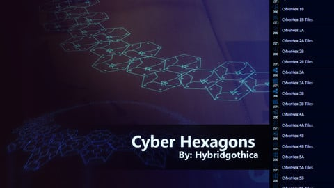 Cyber Hexagons Brushes.