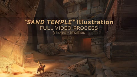 """Sand Temple"" Illustration / Full video process + Brushes"